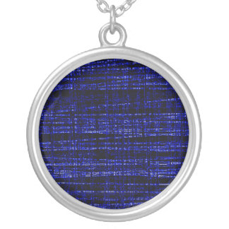 Mesh Weave Abstract blue Personalized Necklace