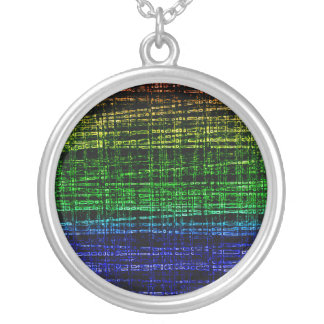 Mesh Weave Abstract rainbow Necklaces