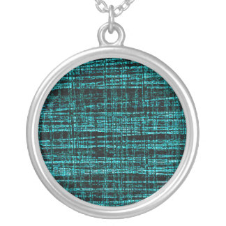 Mesh Weave Abstract teal Necklace
