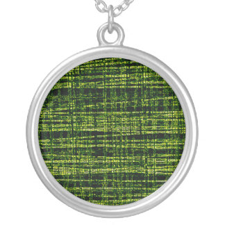 Mesh Weave Abstract yellow Necklaces