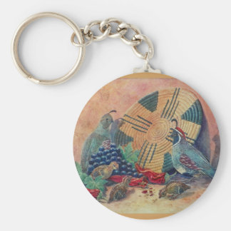 Mesilla Harvest - by Kathy Morrow Basic Round Button Key Ring