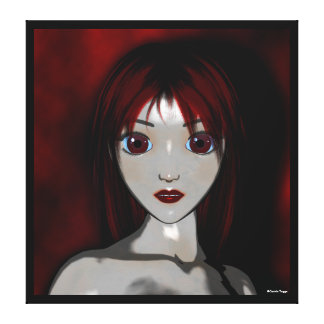 Mesmerize Vampire Anime Goth Stretched Canvas Print