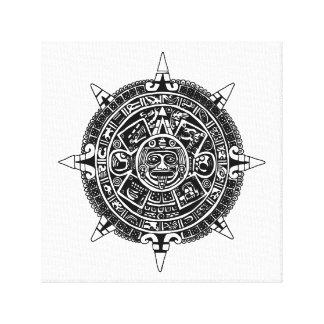 Mesoamerican calendar canvas print