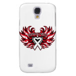 Mesothelioma Awareness Heart Wings.png Galaxy S4 Covers