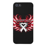 Mesothelioma Awareness Heart Wings.png Case For iPhone 5