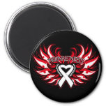 Mesothelioma Awareness Heart Wings.png Refrigerator Magnet