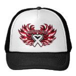 Mesothelioma Awareness Heart Wings.png Mesh Hat