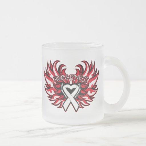 Mesothelioma Awareness Heart Wings.png Mug