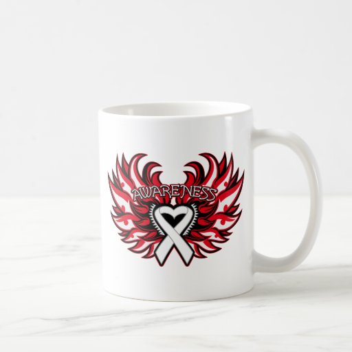 Mesothelioma Awareness Heart Wings.png Coffee Mug