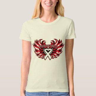 Mesothelioma Awareness Heart Wings.png T-shirt