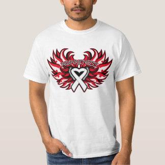 Mesothelioma Awareness Heart Wings.png Tshirts