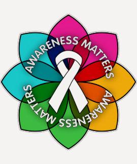 Mesothelioma Awareness Matters Petals T-shirt