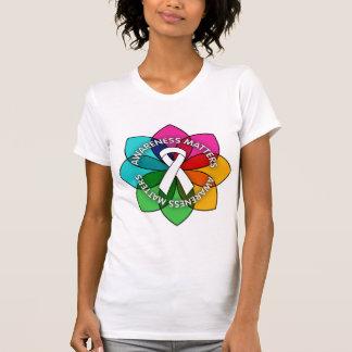 Mesothelioma Awareness Matters Petals Shirts