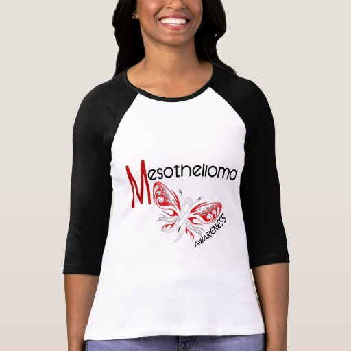 Mesothelioma Butterfly 3.1 T-shirts