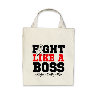 Mesothelioma Cancer Fight Like a Boss Tote Bags