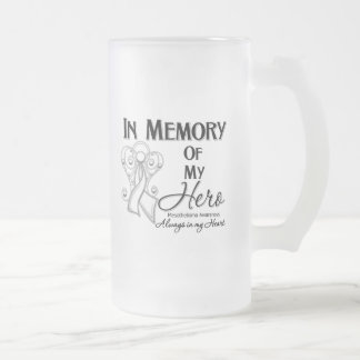 Mesothelioma Cancer In Memory of My Hero Frosted Glass Mug