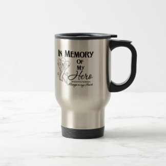 Mesothelioma Cancer In Memory of My Hero Stainless Steel Travel Mug
