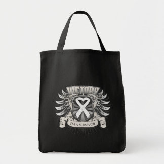 Mesothelioma Cancer Victory Canvas Bags