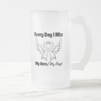 Mesothelioma Every Day I Miss My Hero Frosted Glass Mug