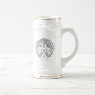 Mesothelioma Fight Like A Girl Fleurish Beer Steins