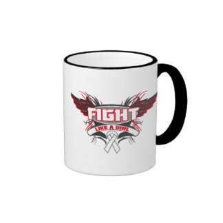 Mesothelioma Fight Like a Girl Wings.png Ringer Mug