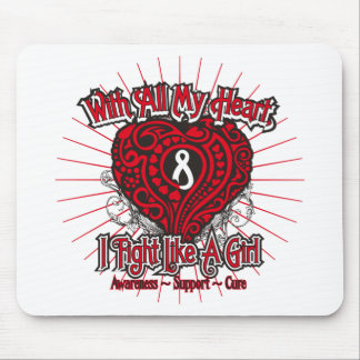 Mesothelioma Heart I Fight Like A Girl Mouse Pads
