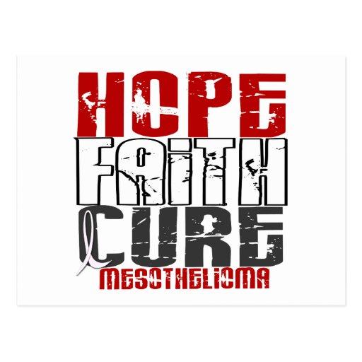 Mesothelioma HOPE FAITH CURE 1 Post Cards