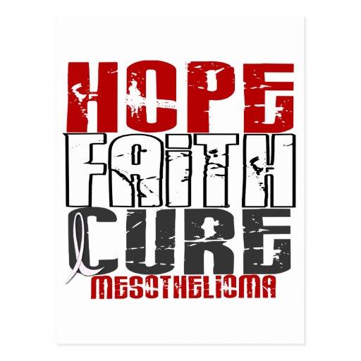 Mesothelioma HOPE FAITH CURE 1 Postcards