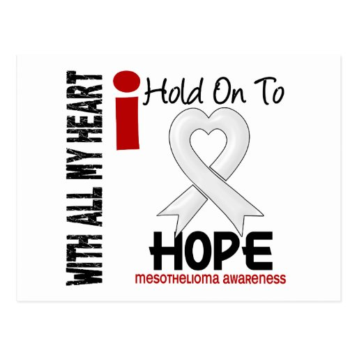Mesothelioma I HOLD ON TO HOPE Post Card