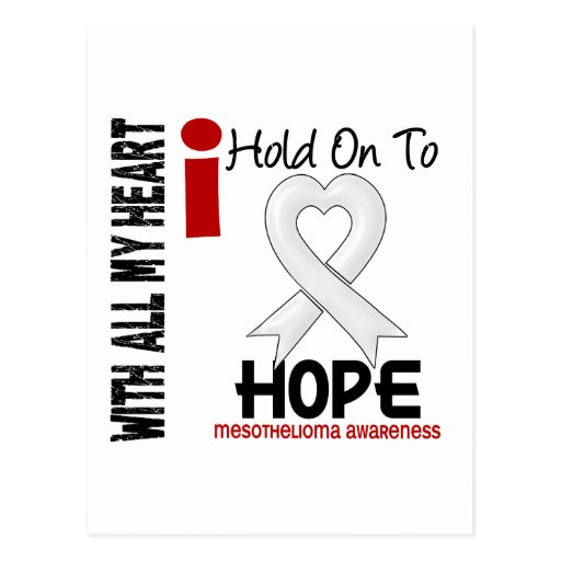 Mesothelioma I HOLD ON TO HOPE Postcards