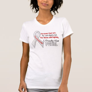 Mesothelioma I Proudly Wear Pearl Tee Shirt