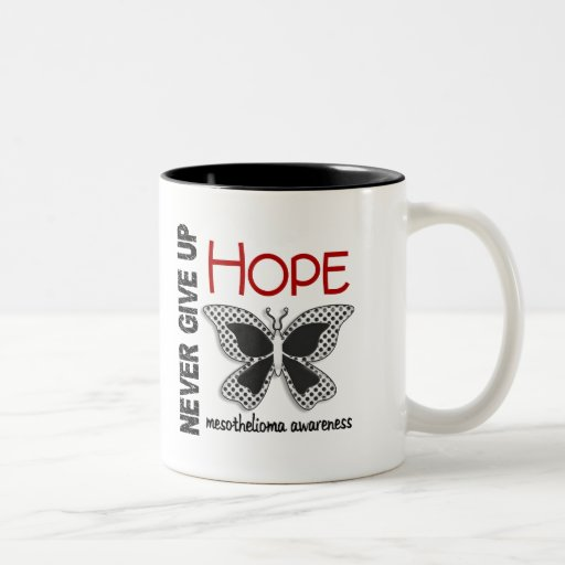 Mesothelioma Never Give Up Hope Butterfly 4.1 Mugs