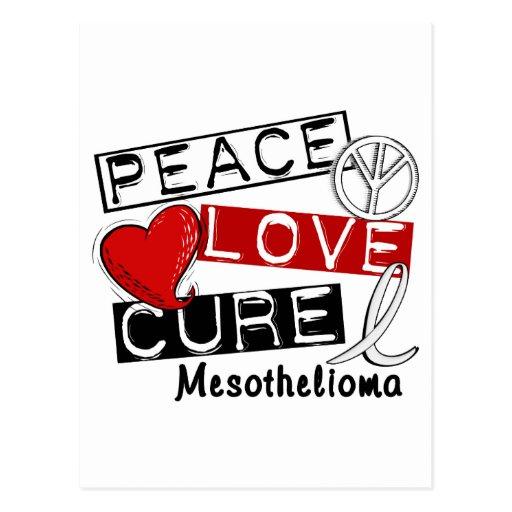 Mesothelioma PEACE LOVE CURE 1 Post Card