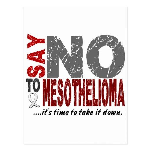 Mesothelioma SAY NO Postcards
