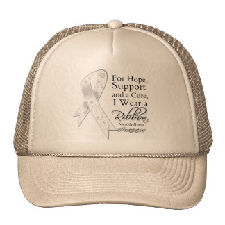 Mesothelioma Support Hope Awareness Mesh Hat