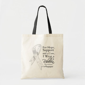 Mesothelioma Support Hope Awareness Budget Tote Bag