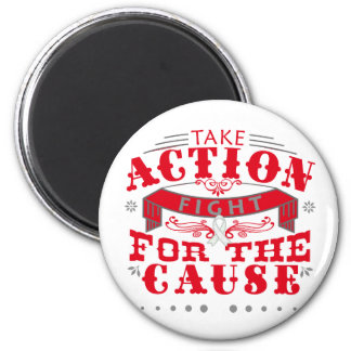 Mesothelioma Take Action Fight For The Cause Refrigerator Magnet
