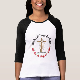 Mesothelioma With God Cross 1 T-Shirt