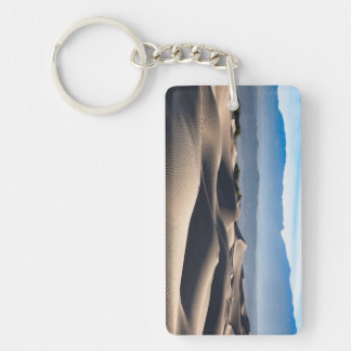 Mesquite Flat Sand Dunes Double-Sided Rectangular Acrylic Key Ring