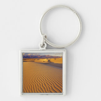 Mesquite Flat Sand dunes in Death Valley Silver-Colored Square Key Ring