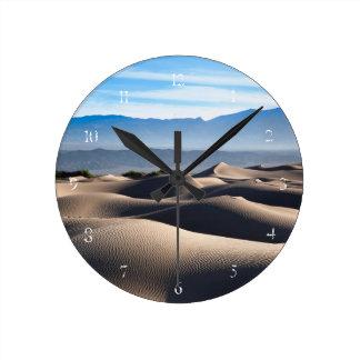 Mesquite Flat Sand Dunes Round Clock