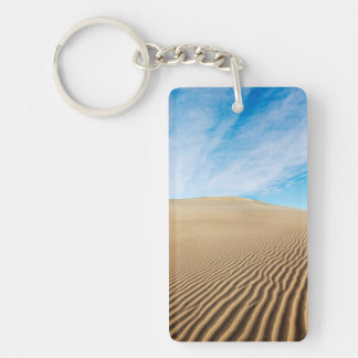 Mesquite Flats Sand Dunes Double-Sided Rectangular Acrylic Key Ring
