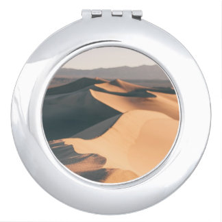 Mesquite Sand Dunes in Death Valley Compact Mirror