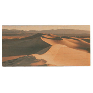 Mesquite Sand Dunes in Death Valley Wood USB 2.0 Flash Drive