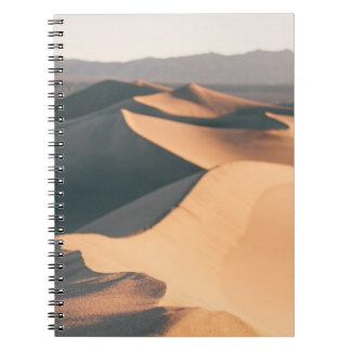 Mesquite Sand Dunes in Death Valley Spiral Note Book