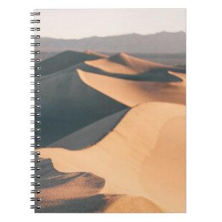 Mesquite Sand Dunes in Death Valley Spiral Notebook