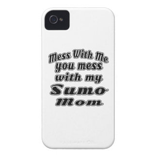 Mess with me you mess with my Sumo Mom iPhone 4 Case-Mate Cases