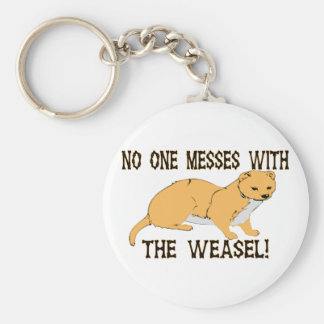 Mess With The Weasel Key Ring