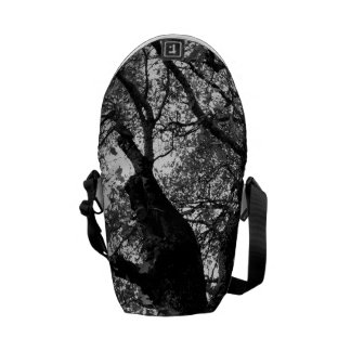 Message Bag - Black & White Image of Autumn Tree Courier Bag