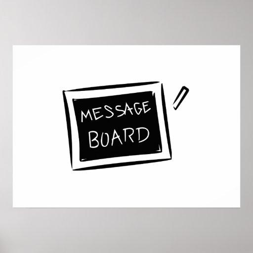 Message Board Chalkboard Poster